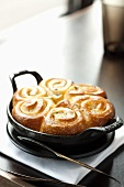 Sticky Buns in a Cast Iron Pan