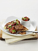 Pan Seared Tilapia with Strawberry Salsa
