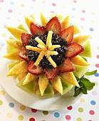 Sugared Fruit Salad Flower