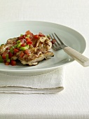 Grilled Boneless Chicken Thighs Topped with Fresh Salsa
