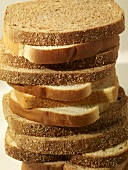 Wheat and White Sandwich Bread Slices Stacked