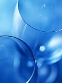 Wine Glasses Close Up; Blue