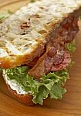 BLT on Rustic Italian Bread
