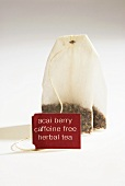 Tea Bag of Acai Berry Caffeine Free Herbal Tea with Tag