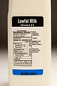 Nutritional Label on a Low Fat Milk Container