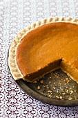 Pumpkin Pie (Kürbispie, USA), angeschnitten