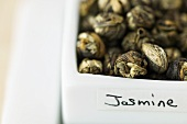 Jasmine Tea in a Container with a Label