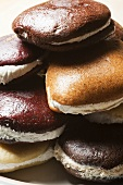 Assorted Whoopie Pies Piled on a Plate