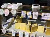 Cheese Stand at Outdoor Market