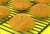 Pumkin Whoopie Pie Shells on Cooling Rack