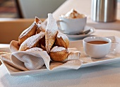 Beignets with a Cappuccino