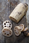 Partially Slice Lotus Root