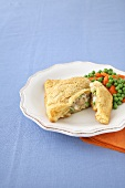 Stuffed Turkey Pocket with Carrots and Peas