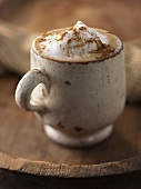 Cappuccino in a Ceramic Cup with Cinnamon