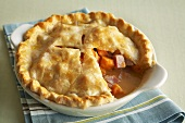 Ham Pot Pie with Slice Removed