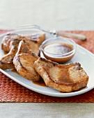 Platter of Pork Chops with Cider Sauce