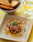 Tuna Tartare with Chili Sesame Oil
