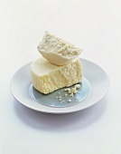 Queso Blanco Cheese on a Plate