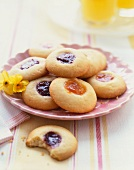 Thumbprint Cookies with Assorted Jams