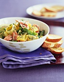Pappardelle With Salmon and Asparagus