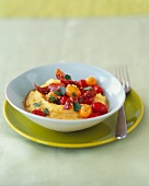 Bowl of Parmesan Polenta with Tomatoes