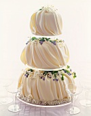 Elegant Three Tiered Wedding Cake