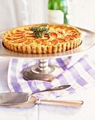 Tomato Tart on a Pedestal Dish
