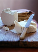 Queso Fresco and Tortillas on a Cutting Board