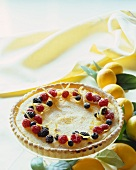 Lemon Tart with Berries and Lemon Zest