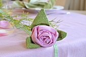A fabric flower