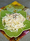 Cabbage salad with caraway seeds