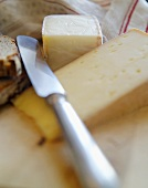 Vacherin Fribourgeois and Taleggio with cheese knife