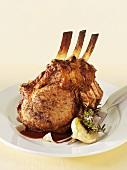 Roast rack of veal