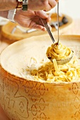 Ribbon pasta with Grana Padano cheese