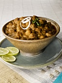 Chole bhature (Chick-peas in spicy sauce, India)