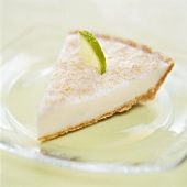 A piece of lime coconut tart