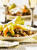 Lamb ragout with peppers