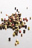 Colourful peppercorns