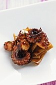 Pappardelle pasta with octopus