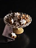 Cinnamon stars in a crystal bowl