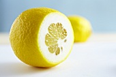 A lemon, sliced