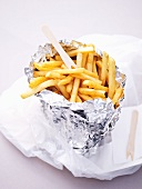 Chips in aluminium foil