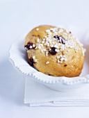 Chocolate brioche with sugar sprinkles