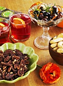 Campari, olives and nuts