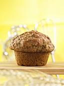 A gluten free banana muffin