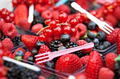 Mixed berries with little plastic forks
