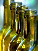 Empty bottles in sunlight (close up)