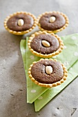 Chocolate almond tartlets