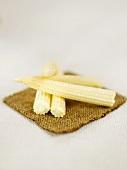 Four small corncobs