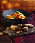Phadphaggabnammakham (vegetables with tamarind sauce, Thailand)